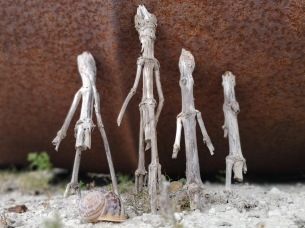 four kings - found sculpture