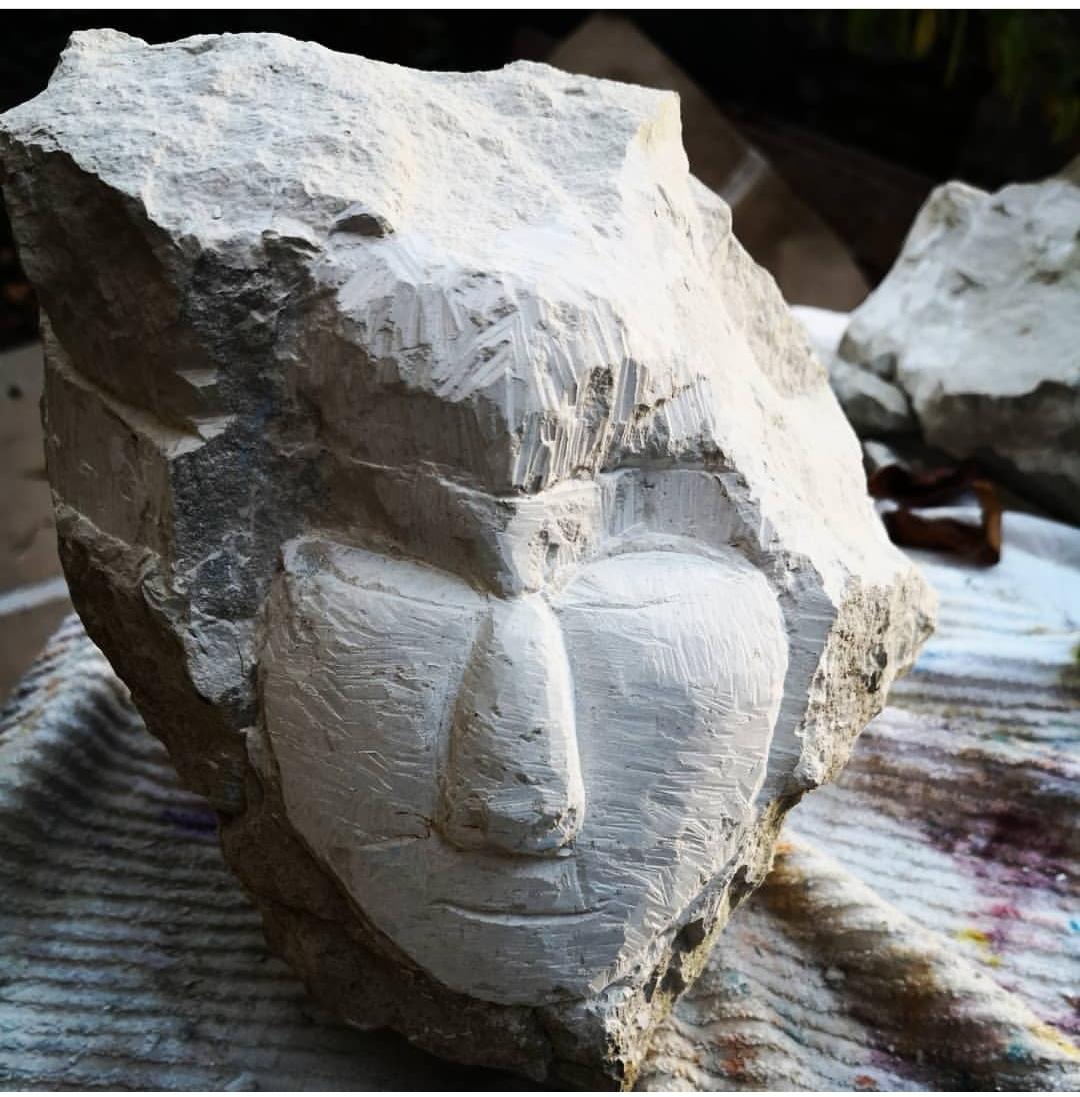 chalk head - early sculpture