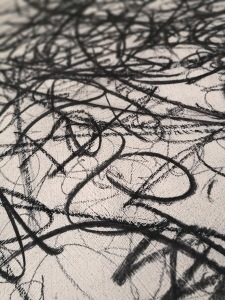 detail from original artwork, charcoal on board